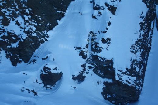 Going down to Trockener Steg, Alpine Panorama, Matterhorn, Switzerland