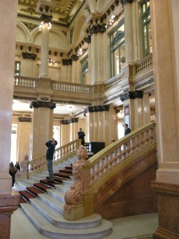 The foyer, with grand staircase