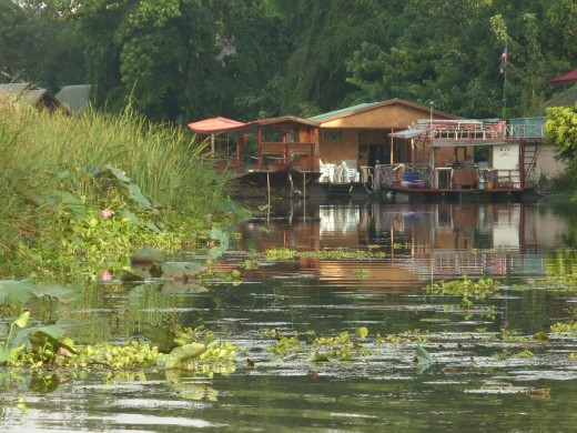 Riverside accommodation, Kanchanaburi, Thailand