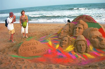 Message to fellow citizens to protect foreign citizens. Advocating the message of Athithi Devo Bhava.