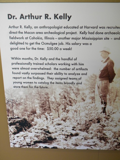 Dr. Kelly, standing atop the Ceremonial Earth Lodge before excavation.