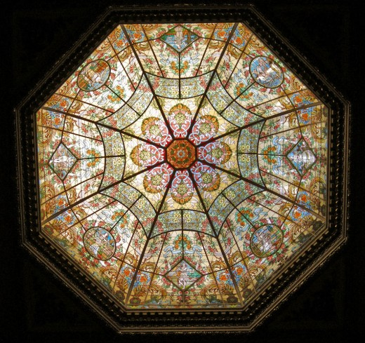 Dazzling stained glass skylight from Paris