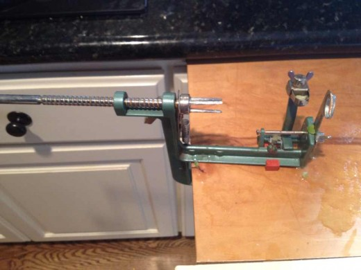 Apple corer, peeler, and slicer.  A fantastic contraption!
