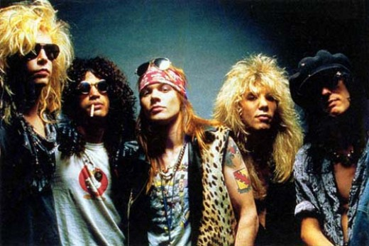 The original Guns N' Roses lineup