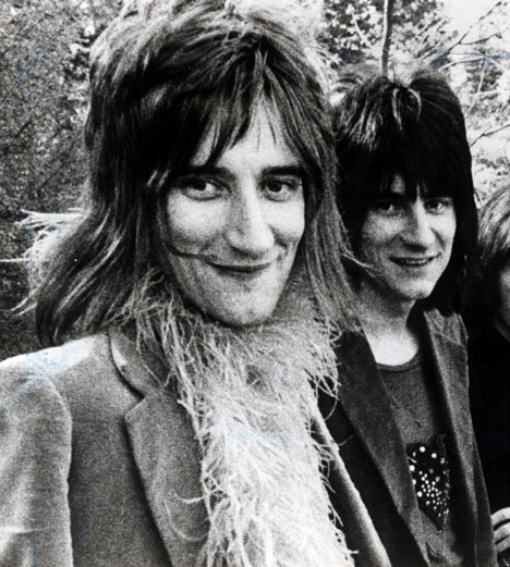 Rod Stewart and Ronnie Wood of The Faces