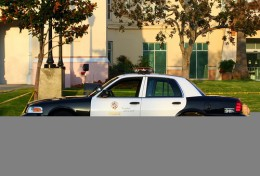 Los Angeles Police Department car in Hollywood, California.