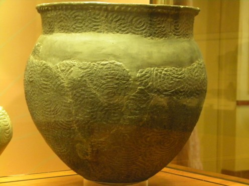 A wonderful example of the pottery found at the Ocmulgee complex.