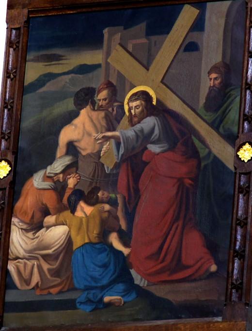 Jezus pociesza płaczące niewiasty, kościół w Żarnowcu from commons.wikimedia.org