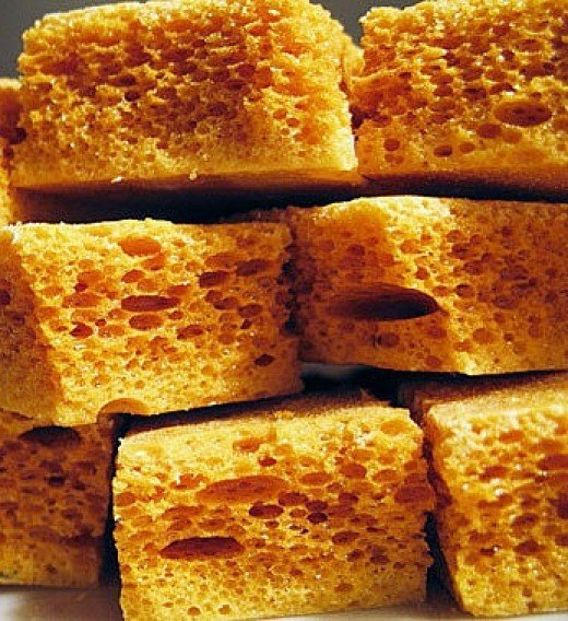 Honeycomb is easy to make at home but care is needed as the hot toffee ...