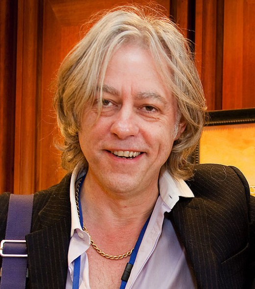 Bob Geldof at the Headquarters of the International Monetary Fund in Washington, DC.