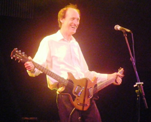 John Otway in the Cabaret tent at the 2010 Glastonbury Festival