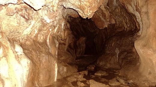 In Ekiriya limestone caves.