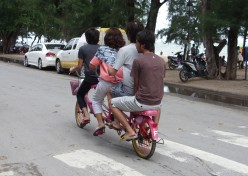 A bicycle made for four, Cha Am Thailand