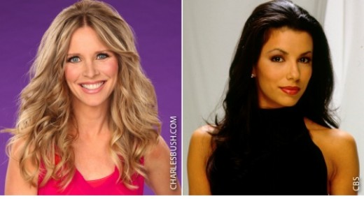 Laura Lee Bell (left) Eva Longoria (right) played enemies on Y&R