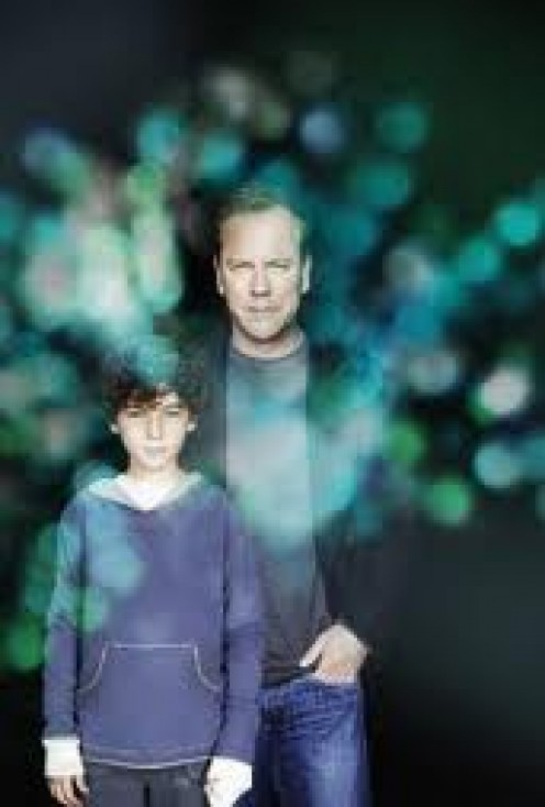 Kiefer Sutherland plays the Dad of a kid with some pretty special abilities.