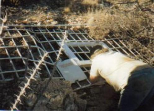Gate on Sand Cave, BLM land near Carlsbad, NM.