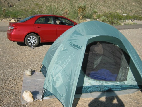 Car camping is easy with the Eureka Tetragon 5.