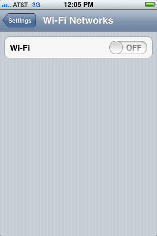 Turn off Wi-Fi.