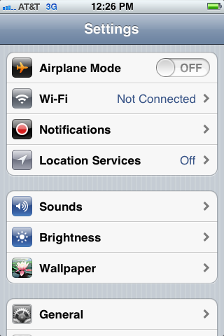 "Your iPhone's Network settings are accessible by tapping ""General"" and then ""Network."""