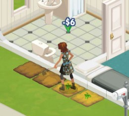 Earn Simoleons in The Sims Social by gardening at your friends' houses!