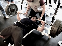 Doing bench press? Use a spotter.