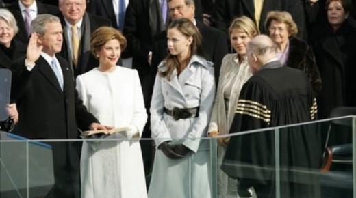 Bush taking oath
