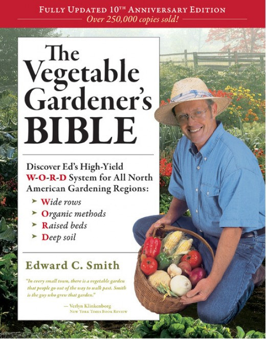 The Vegetable Gardeners Bible a long with many different books available on growing vegetables and controlling pest and diseases chemical free