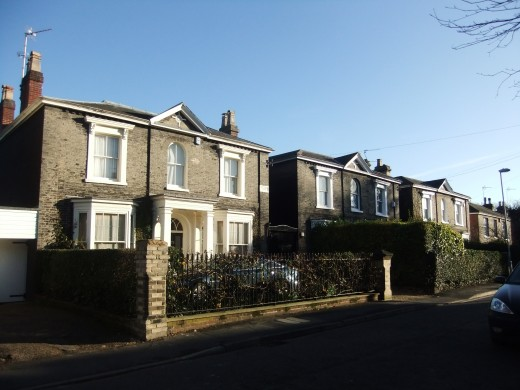 Beautiful period houses on Park Lane, where some of the most expensive houses in the area can be found