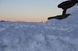 Alpine Panorama - Peak of Matterhorn, view from Gornergrat, Wallis, Switzerland