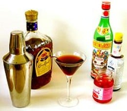the Classic Manhattan - Canadian Whiskey, Sweet Vermouth, bitters, and a cherry.  It's the official drink of the IBA