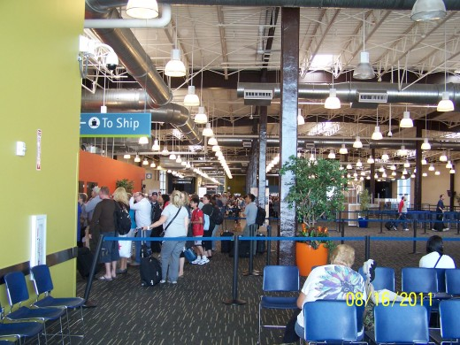 INSIDE THE SEATTLE TERMINAL AT PIER 91 - 8/21/2011
