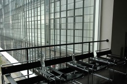 Interior of the Bauhaus Building with Wassily Chairs still being reproduced today.