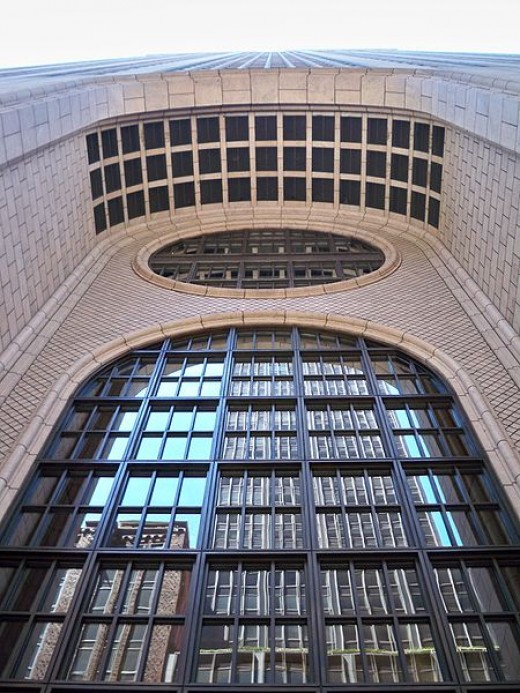 Entrance to the Sony Building (formerly the AT&T Building) in New York City, designed by Philip Johnson in the 1980s