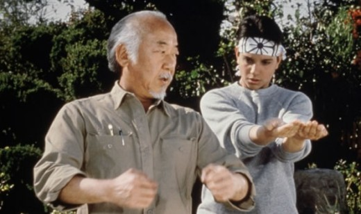 "Pat Morita in the original ""Karate Kid"" (1984)"