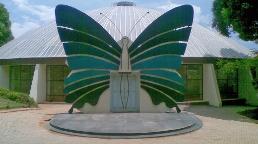 Entrance of the beautiful Butterfly Park at Bannerghatta National Park, Karnataka