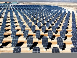 Nellis Solar Power Plant in the United States.