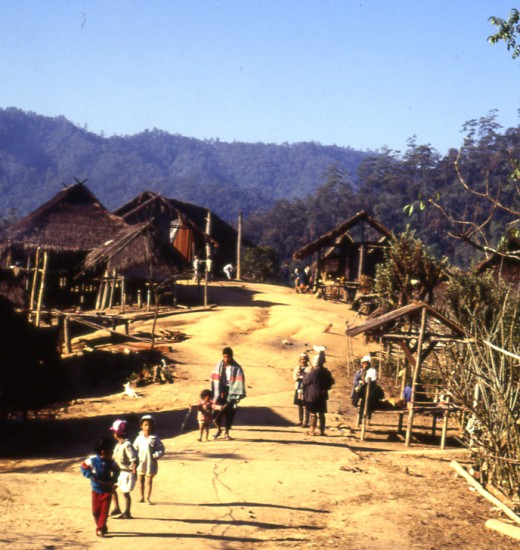 Akha hill tribe village, North Thailand