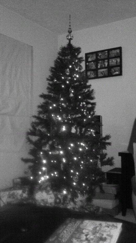 Do you see that mist in front of our Christmas Tree? It's the same in the Color Version of this photograph, too.