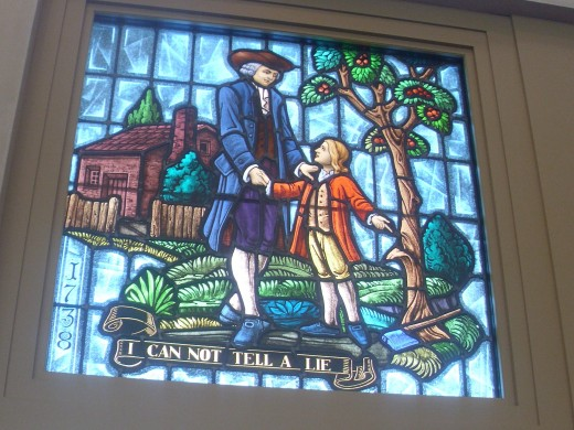 Stain glass window at Mount Vernon Visitor's Center