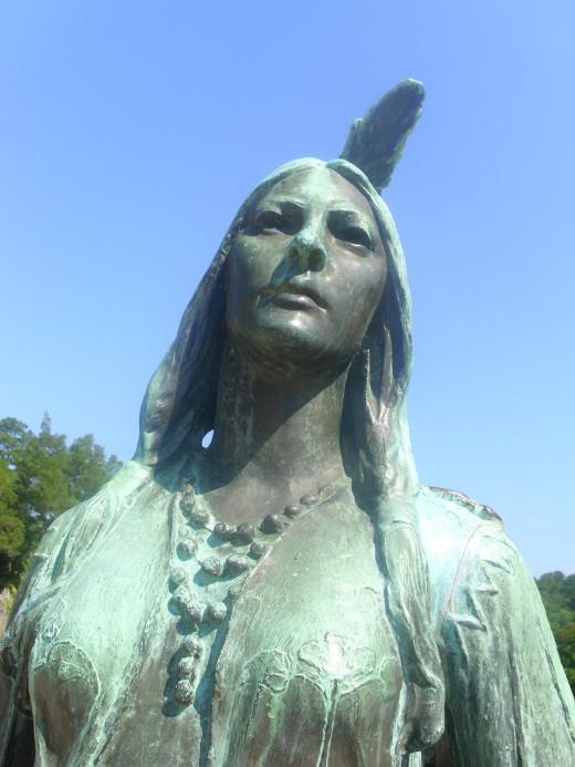 Statue of Pocahontas at Jamestown, VA