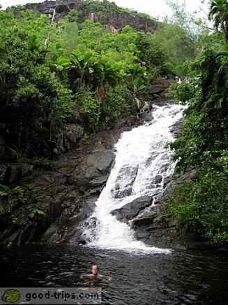 Waterfall on Mahe
