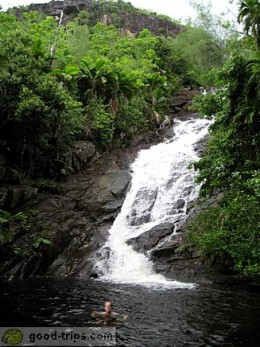 Waterfall on Mahe