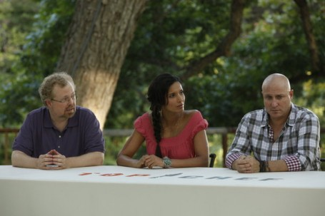 The Judges Nathan, Padma and Tom.  (Gail is sitting next to Tom out of the picture)
