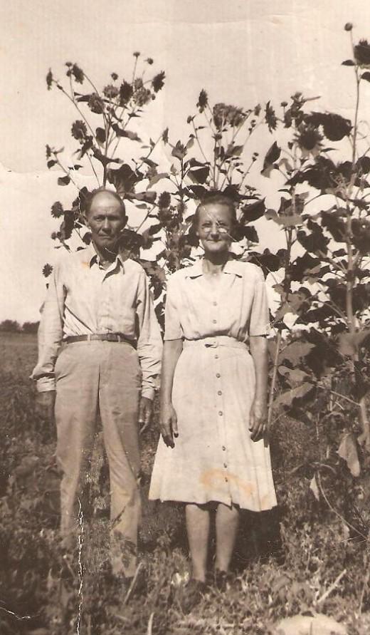 Grandma In Her Shirtdress.