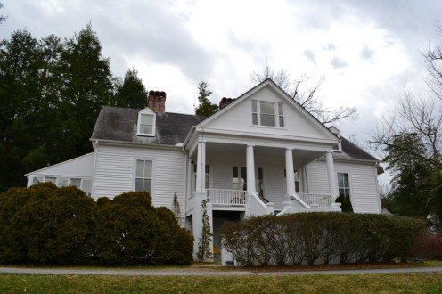 The Carl Sandburg House in Flat Rock, North Carolina