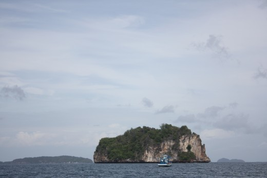 Breathtaking cliffs we passed on our way to Phi Phi