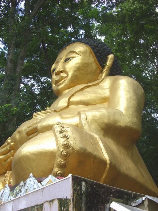 Buddha statue at Doi Wao Temple, Mae Sai, Thailand