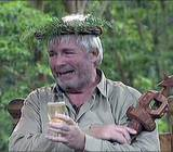Christopher Biggins, here winning I'm A Celebrity Get Me Out Of Here played Lukewarm, the hapless prison cook in Porridge.