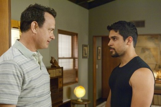 """Hanks gets into a staring contest in """"Larry Crowne."""""""