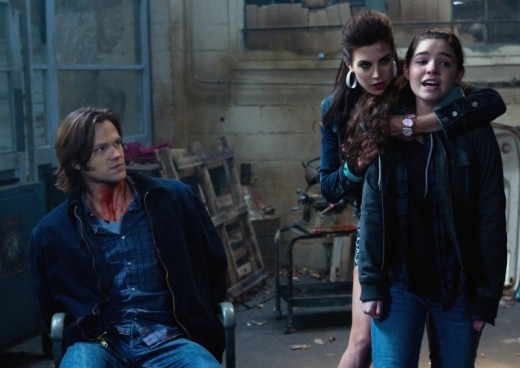 Jared Padalecki as Sam Winchester and Meghan Ory